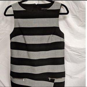 Banana Republic Striped Grey Suiting Dress